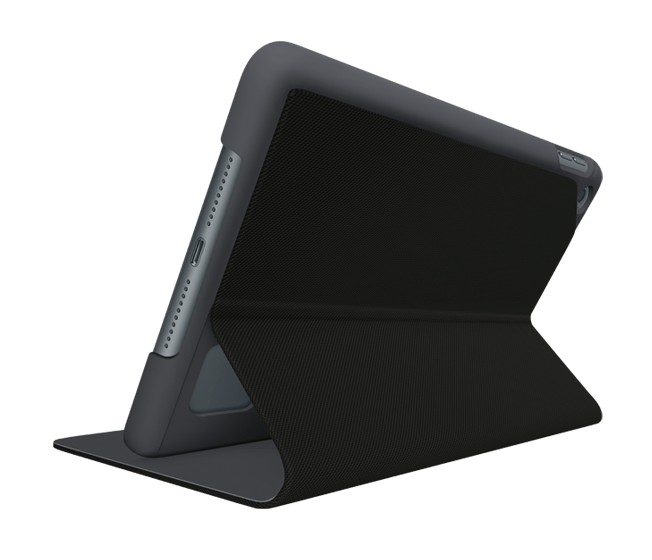 Focus iPad case, back view of stand