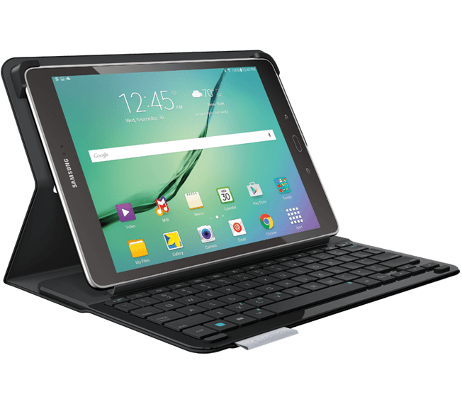Type S Keyboard case for Samsung Galaxy Tab S2, face view