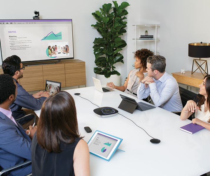 GROUP conference cam system in use