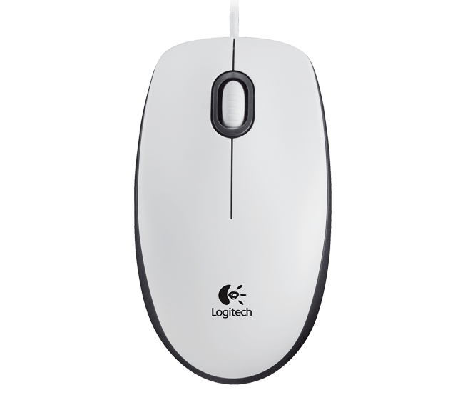 Mouse M100 corded white mouse