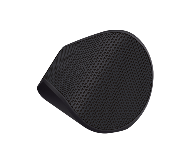 X300 Bluetooth wireless speaker black profile view