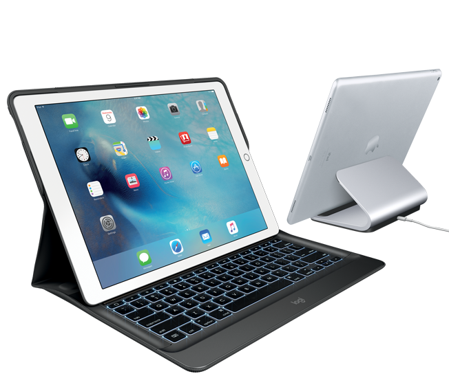 CREATE keyboard case and BASE charging station for iPad