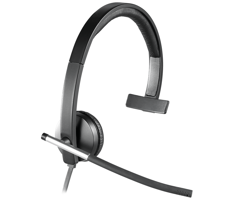 close-up on H650e headset with one earcup