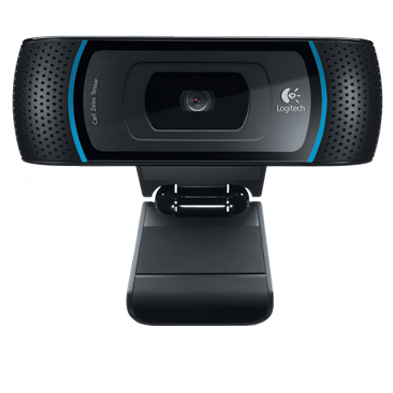 Close up of B910 webcam camera