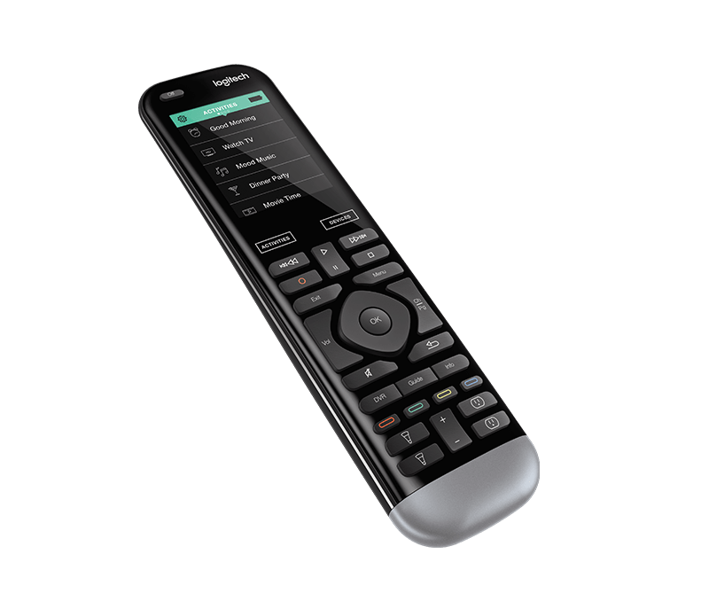 Angled-view Harmony Pro advanced universal remote control