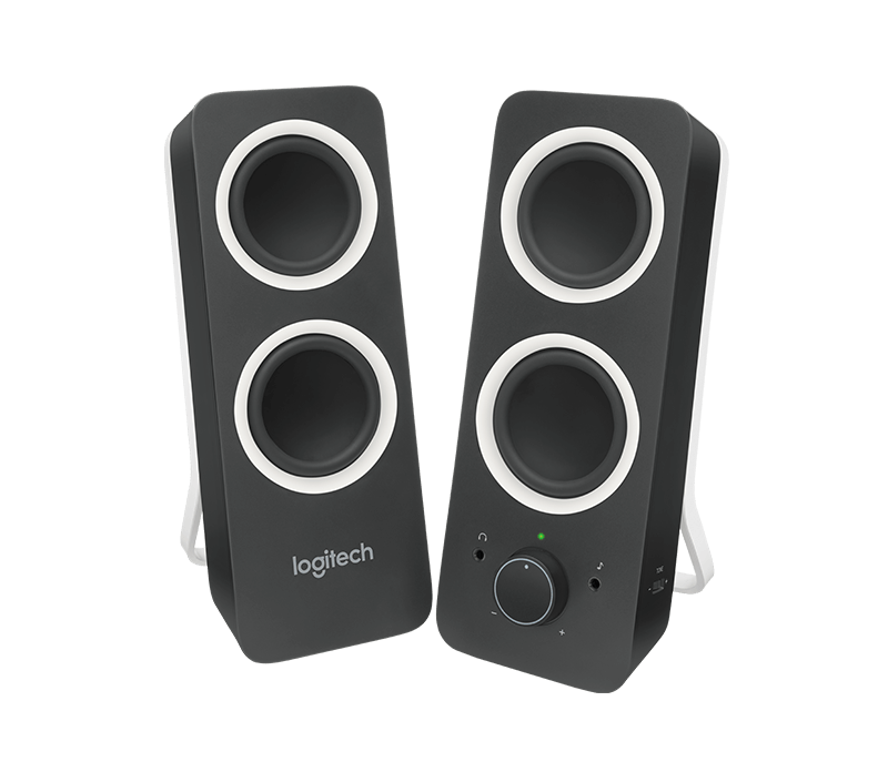 logitech z200 computer stereo speakers with bass control