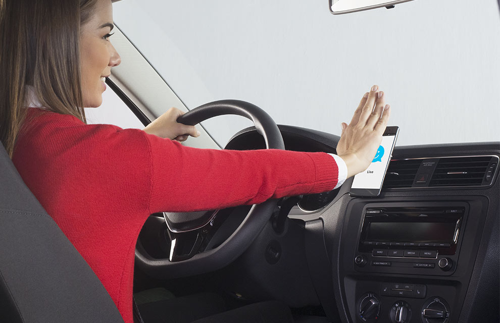 Simple voice commands and gestures control ZeroTouch while driving.