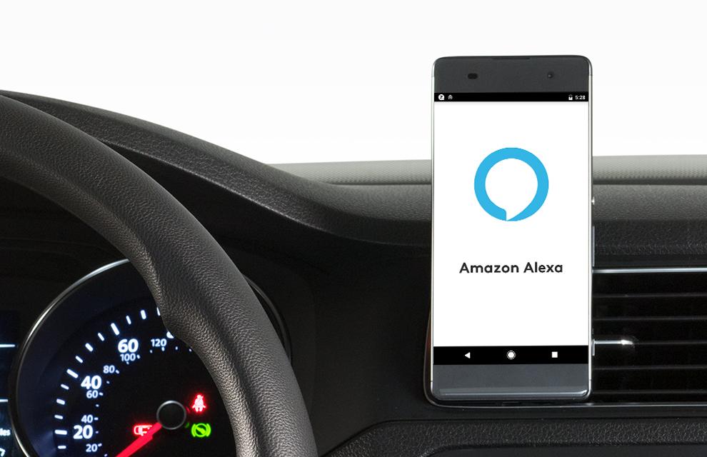 Zerotouch Telefonhalterung für das Auto mit Alexa-Integration
