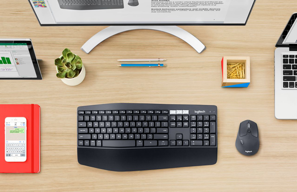 Logitech Mk850 Multi Device Wireless Keyboard And Mouse Combo