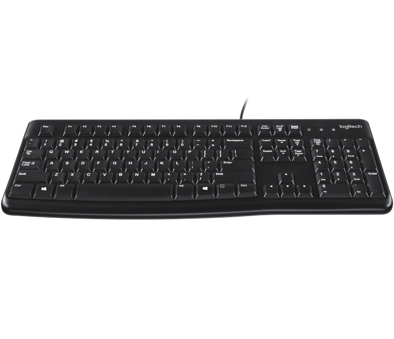 f53c505c3e9 Logitech K120 USB Keyboard, Spill-Resistant with Quiet Typing