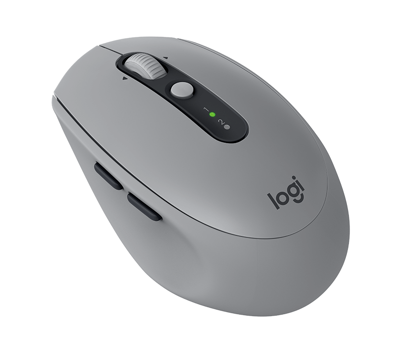 d5b4a12301f Logitech M590 Silent Wireless Mouse with 2 Thumb Buttons & Precise Scrolling