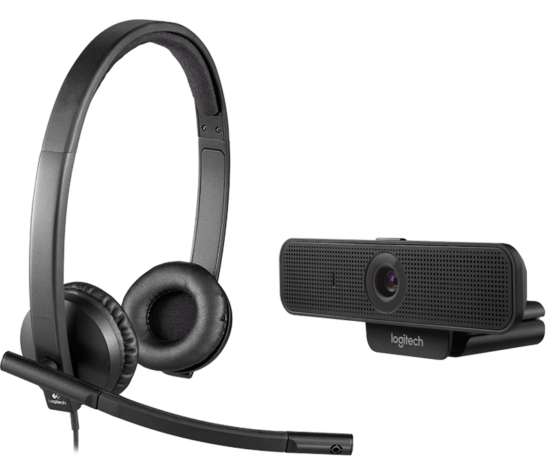 C925E Webcam and H570E Stereo Headset Bundle