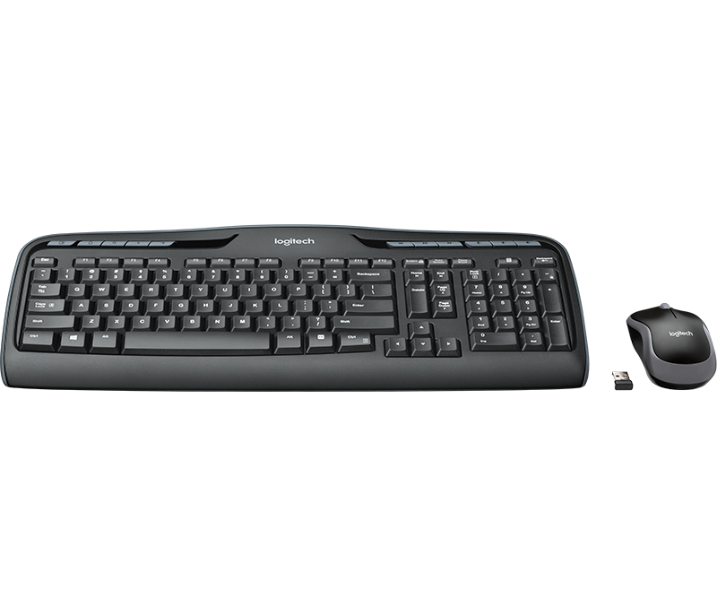 Black Desktop USB Keyboard and Mouse Logitech