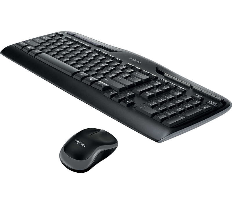 Logitech MK330 Wireless Keyboard and Mouse Combo with Media