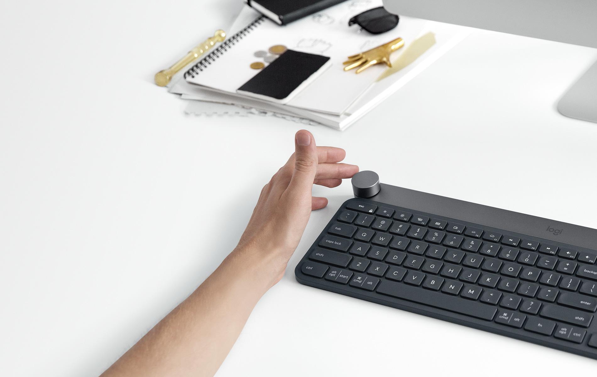 Logitech Craft Wireless Keyboard for Advanced Creativity Productivity