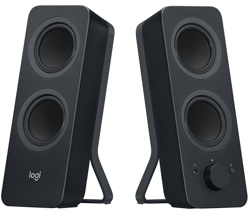 logitech z207 2 0 stereo computer speakers with bluetooth. Black Bedroom Furniture Sets. Home Design Ideas