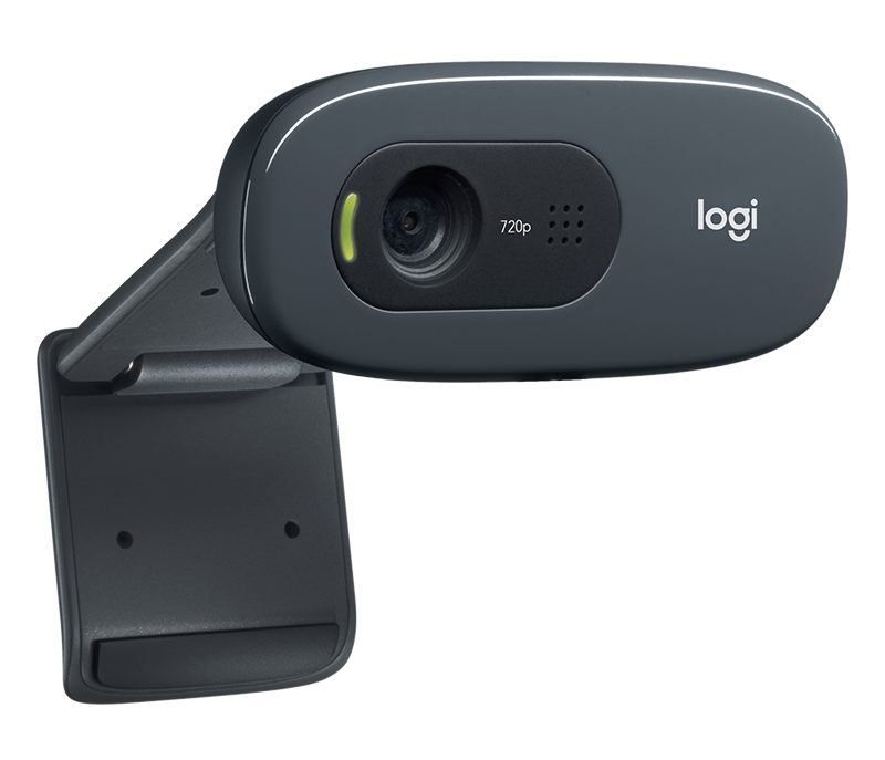 Logitech C270 Hd Webcam 720p Video With Built In Mic Lighting Correction
