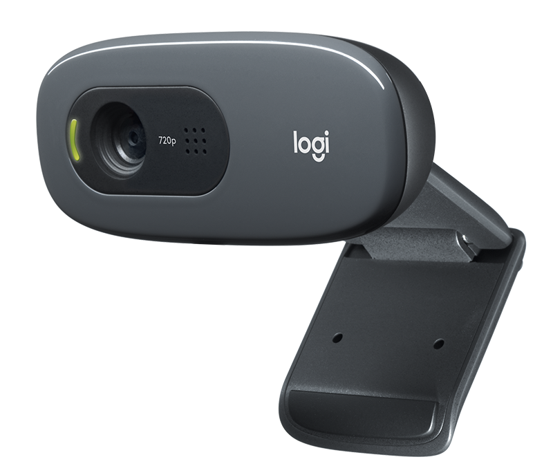 Logitech C270 HD Webcam, 720p Video with Built-in Mic & Lighting