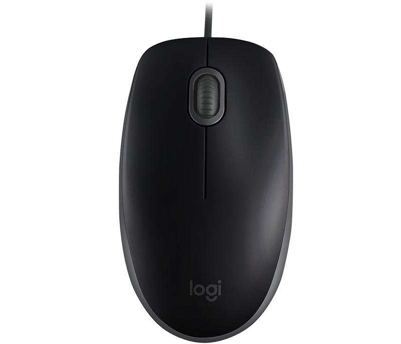 Logitech B110 Silent Mouse, Corded Mouse with Silent Clicks