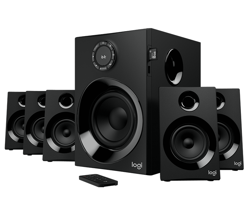 logitech z607 5 1 surround sound speakers with bluetooth. Black Bedroom Furniture Sets. Home Design Ideas