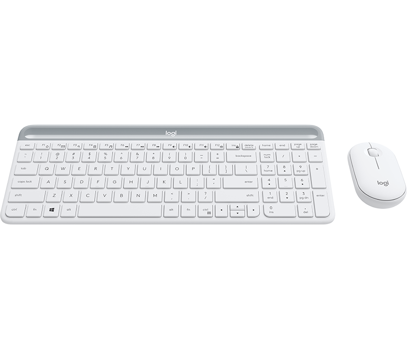 Slim Wireless Keyboard and Mouse Combo MK470 5