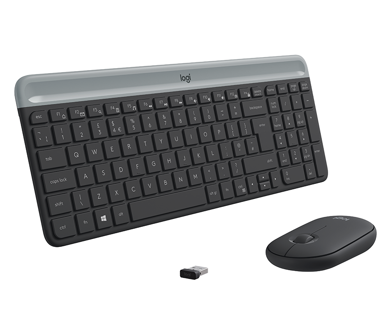 Kit di mouse e tastiera wireless ultrasottili MK470 5