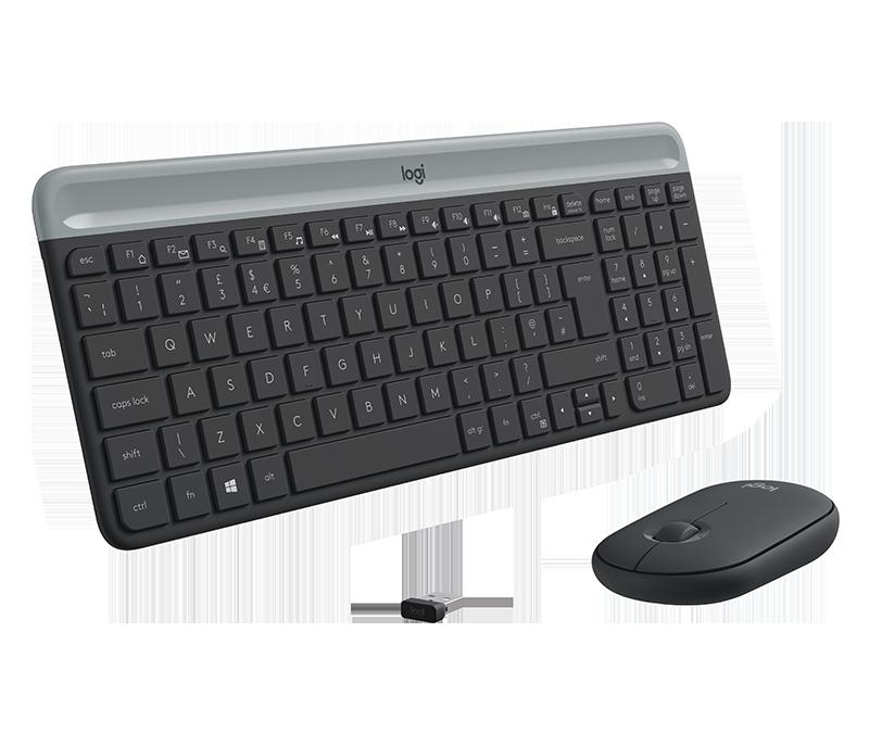 Λεπτό ασύρματο σετ πληκτρολογίου και ποντικιού MK470