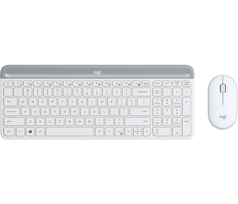 Slim Wireless Keyboard and Mouse Combo MK470