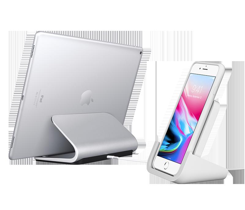 <span class='lowerCase'>POWERED für iPhone + Basis für iPad</span>