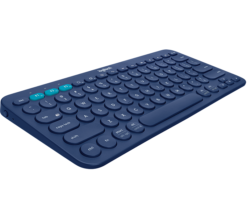 k380 Multi Device Keyboard Side Angle View