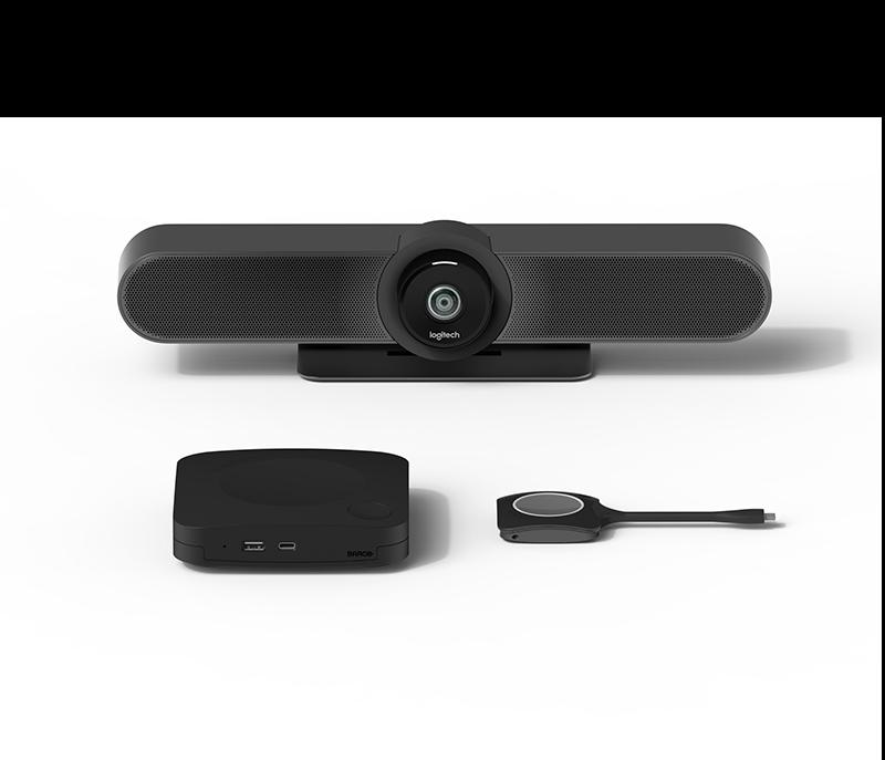 Soluciones Logitech para salas de reuniones con Barco ClickShare 1